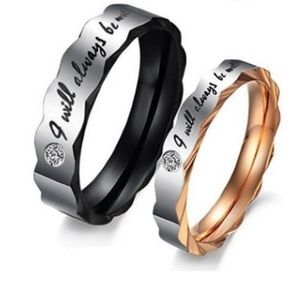Beautiful COUPLES WEDDING BANDS Engraved